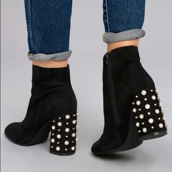 aac469995b4 Steve Madden Yvette black suede studded boots